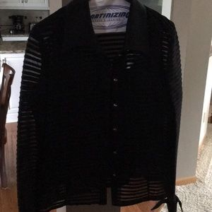 Dressy black blouse with matching tank